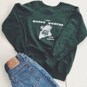 Tops - NWOT Vintage moose hunter sweatshirt